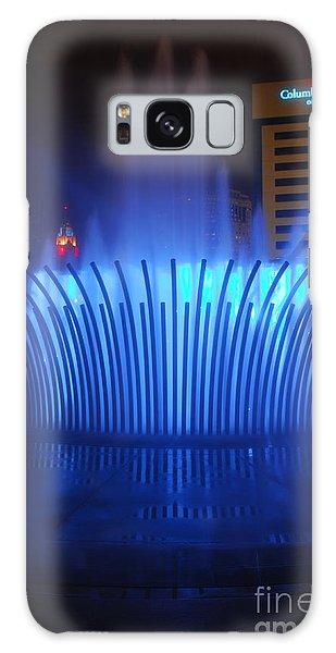 D101l-122 Scioto Mile Fountain Photo Galaxy Case