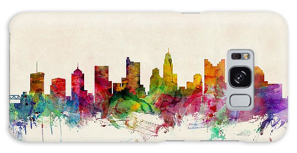 Watercolour Galaxy Case - Columbus Ohio Skyline by Michael Tompsett