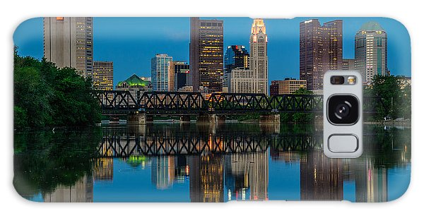 Columbus Ohio Night Skyline Photo Galaxy Case