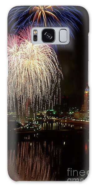 Columbus Red White And Boom Galaxy Case