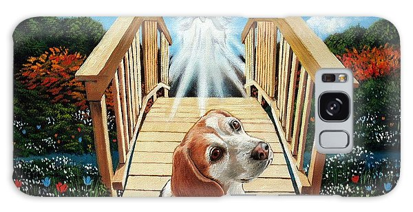 Come Walk With Me Over The Rainbow Bridge Galaxy Case