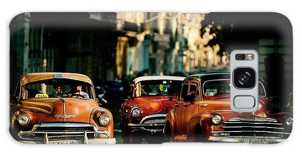 Old Car Galaxy Case - Come With Me In The Morning Light by Gina Buliga