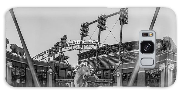 Comerica Park Black And White Galaxy Case by John McGraw