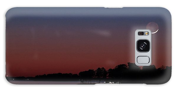 Comet Panstarrs And Crescent Moon Galaxy Case