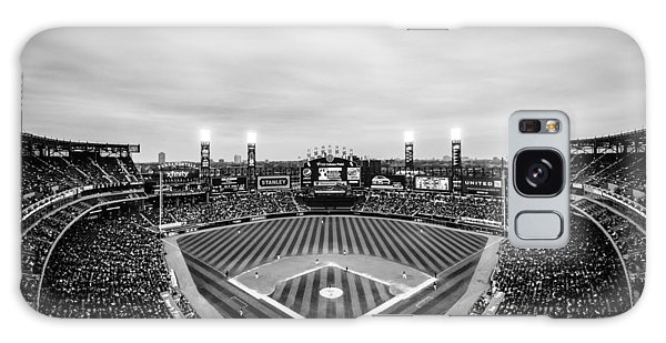 Comiskey Park Night Game - Black And White Galaxy Case
