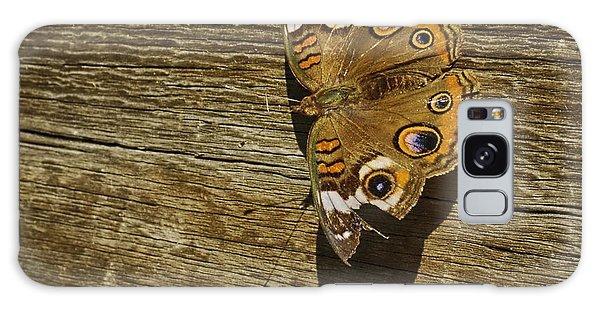 Common Buckeye With Torn Wing Galaxy Case by Lynn Palmer