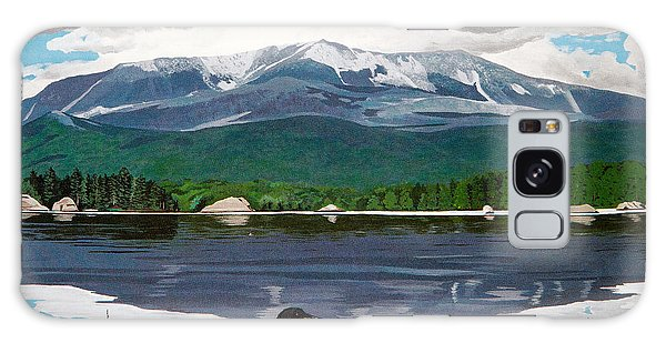 Common Loon On Togue Pond By Mount Katahdin Galaxy Case