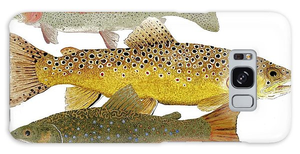 Common Trout  Rainbow Brown And Brook Galaxy Case