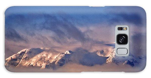 Comox Glacier And Morning Mist Galaxy Case