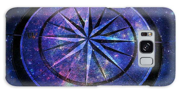 Compass With A Galaxy Galaxy Case