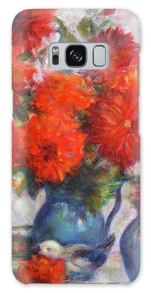 Complementary - Original Impressionist Painting - Still-life - Vibrant - Contemporary Galaxy Case
