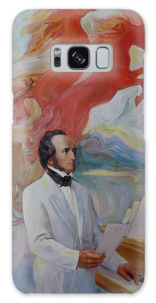 Composer Felix Mendelssohn Galaxy Case by Svitozar Nenyuk