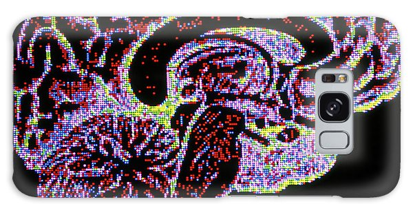 Brainstem Galaxy Case - Computer Artwork Of Section Through Healthy Brain by Alfred Pasieka/science Photo Library