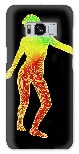 Contour Galaxy Case - Computer Contour Map Of A Female Body (front View) by Dr Robin Williams/science Photo Library