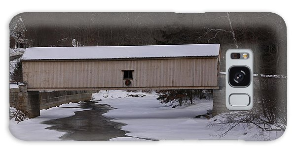 Comstock Covered Bridge Winter 2015 2 Galaxy Case