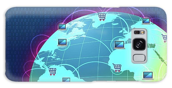 Online Shopping Cart Galaxy Case - Concept Of Global E-commerce by Fanatic Studio / Science Photo Library