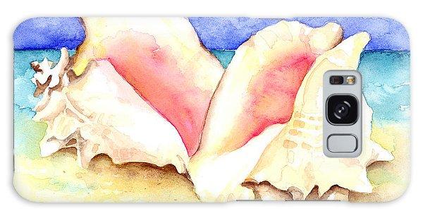 Conch Shells On Beach Galaxy Case
