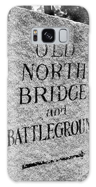 Concord Ma Old North Bridge Marker Black And White Galaxy Case