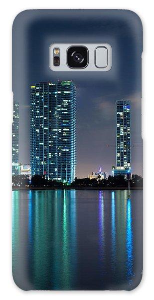 Condominium Buildings In Miami Galaxy Case by Carsten Reisinger