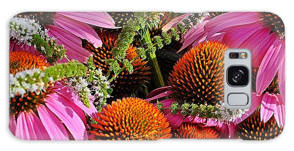 Cone Flowers And Mint Galaxy Case