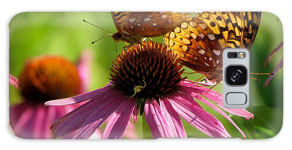 Coneflower Butterflies Galaxy Case