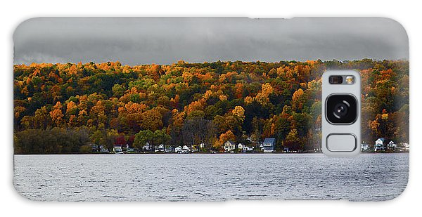 Conesus Lake Autumn Galaxy Case by Richard Engelbrecht
