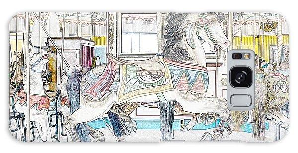 Coney Island Carousel Galaxy Case