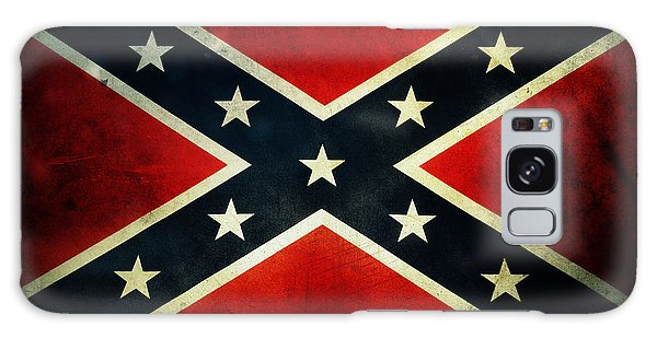 Weathered Galaxy Case - Confederate Flag 4 by Les Cunliffe