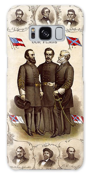 Confederate Generals And Flags Galaxy Case