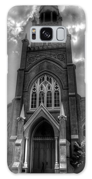 Congregation Mickve Israel Savannah Georgia In Black And White Galaxy Case