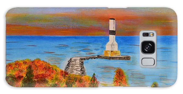 Fall, Conneaut Ohio Light House Galaxy Case