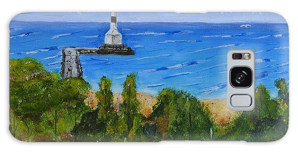 Summer, Conneaut Ohio Lighthouse Galaxy Case