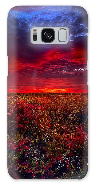 Picnic Table Galaxy Case - Connecting by Phil Koch