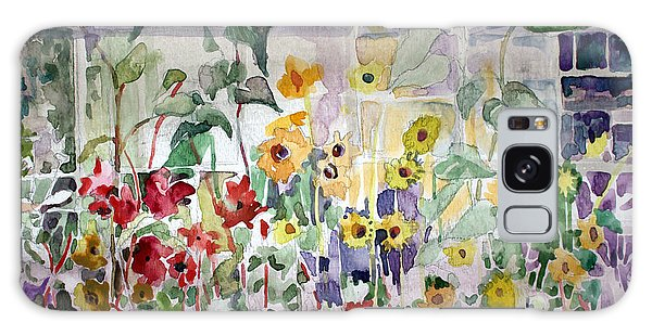 Conservatory Sunflowers Galaxy Case by Mindy Newman