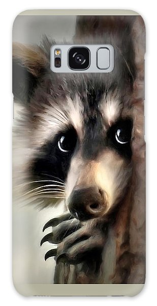 Galaxy Case featuring the mixed media Conspicuous Bandit by Christina Rollo