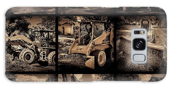 Excavator Galaxy Case - Construction Collage-1 by Rudy Umans