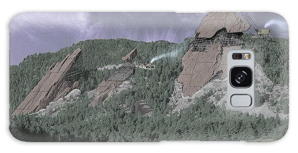 Tint Galaxy Case - Construction Of The Flatirons - 1931 by Jerry McElroy