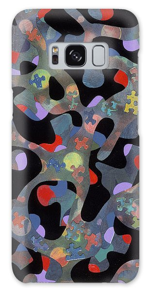 contemporary abstract art - Inside Outside Galaxy Case