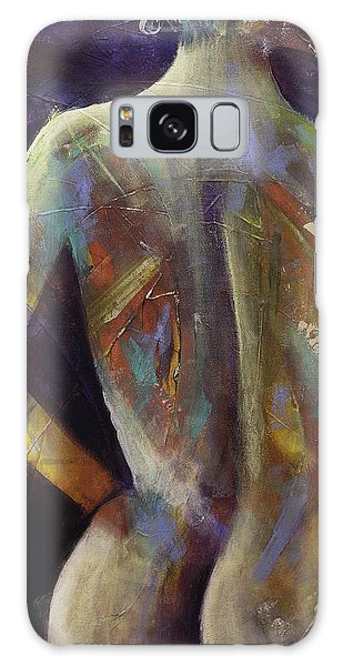 Contemporary Nude Woman Portrait Expressionist Style Galaxy Case