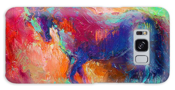 Contemporary Vibrant Horse Painting Galaxy Case