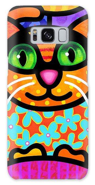 Calico Cat Galaxy Case - Contented Cat by Steven Scott