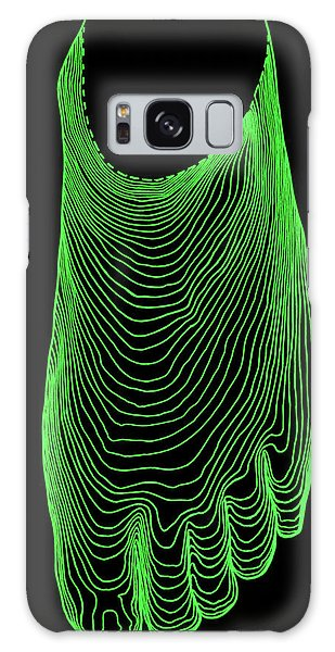 Contour Galaxy Case - Contour Map Of Normal Foot by Dr Robin Williams/science Photo Library