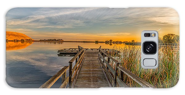 Contra Loma Dock At Sunrise Galaxy Case