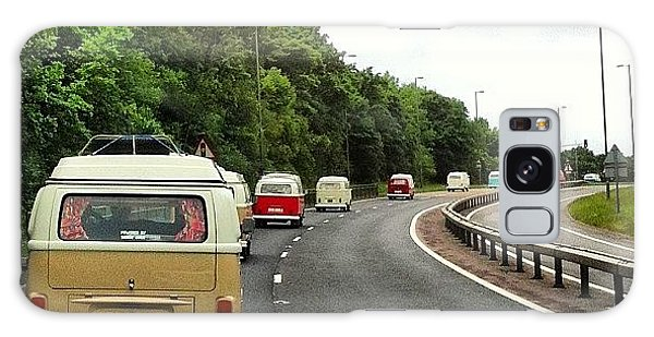 Vw Camper Galaxy Case - Convoy To The #camper&busshow At by Jimmy Lindsay