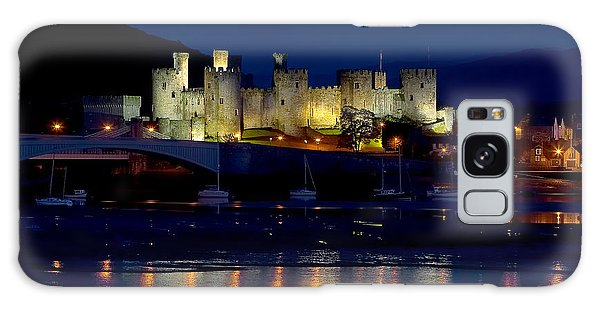 Conwy Castle At Night Galaxy Case