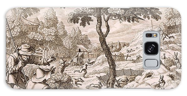 Cony Catching, Engraved By Wenceslaus Galaxy Case
