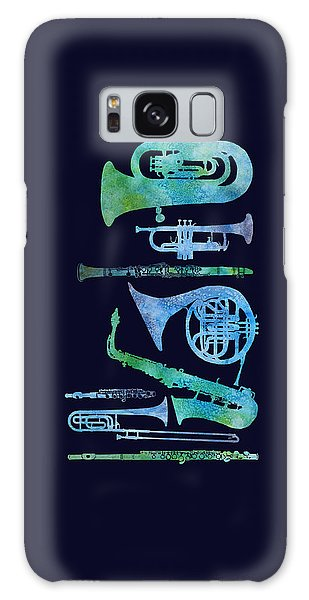 Cool Blue Band Galaxy Case by Jenny Armitage
