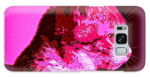 Cool Cat Galaxy Case by Clare Bevan
