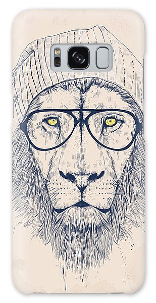 Funny Galaxy Case - Cool Lion by Balazs Solti