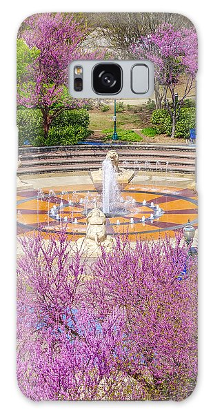 Coolidge Park Fountain In Spring Galaxy Case